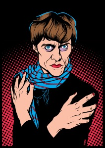 Kim Fowley illustration (c) Gonzalo Facio